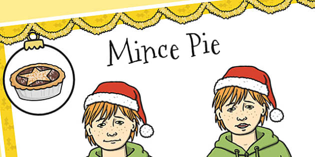 A4 British Sign Language Sign for Mince Pie Left Handed - sign