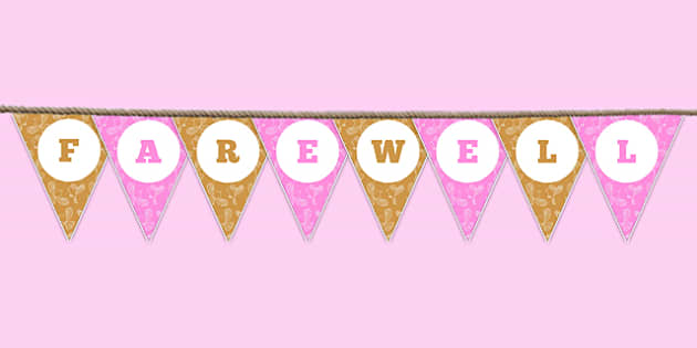Farewell Bunting - farewell, bunting, display bunting, display, school leavers
