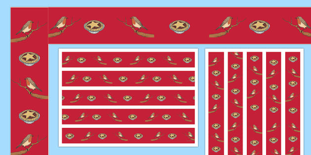 Christmas Robins Display Borders - Priority Resources
