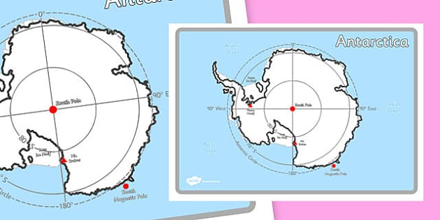 KS1 Geography Continents of the World Posters Antarctica - ks1, geography, continents of the world, posters, display, antarctica