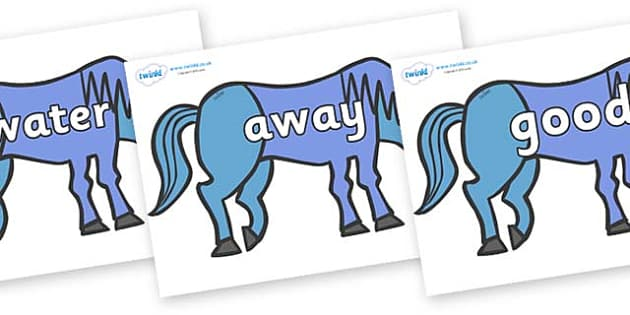 Next 200 Common Words on Blue Horse to Support Teaching on Brown Bear, Brown Bear - Next 200 Common Words on  - DfES Letters and Sounds, Letters and Sounds, Letters and sounds words, Common words, 200 common words