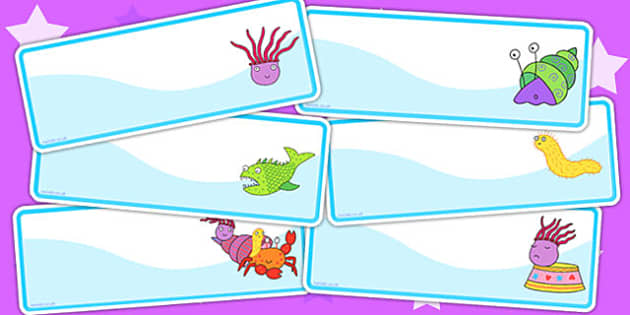 Editable Drawer Peg Name Labels to Support Teaching on Sharing a Shell - name tags, sign