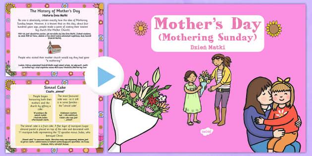 Mother's Day Presentation Polish Translation - polish, mothers day, presentation, assembly, powerpoint