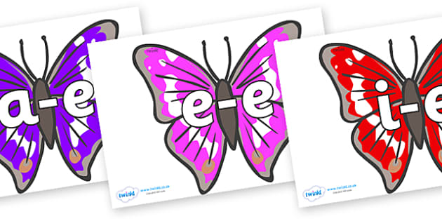 Modifying E Letters on Emperor Butterflies - Modifying E, letters, modify, Phase 5, Phase five, alternative spellings for phonemes, DfES letters and Sounds