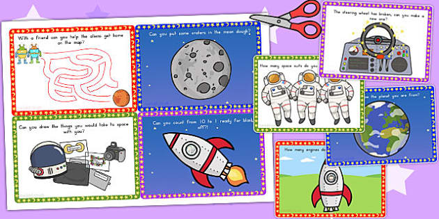 Challenge Cards Spaceship - australia, challenge, cards, space