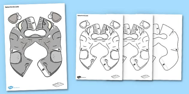 Elephant Bee-Bot Jacket - beebot, bee-bot, bee bot, jacket, elephant