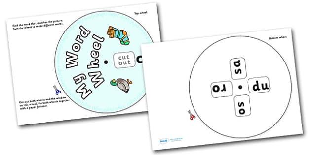 Phonics Digraph Word Wheel (ck) - Phonics, Digraph, word wheel, ck, DfES Letters and Sounds, Letters and Sounds
