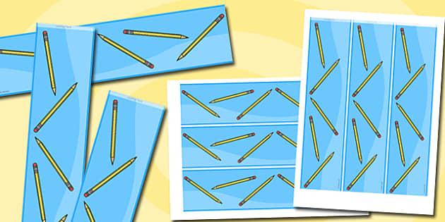 Pencils Themed Display Borders - pencils, display borders, display, borders