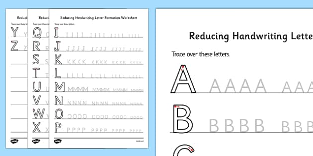 Reducing Handwriting Letter Formation Worksheets handwriting – Letter Formation Worksheets