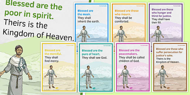 Beatitudes Display Posters - irish, gaeilge, Beatitudes, Posters, Display, Christianity