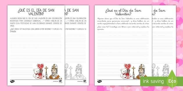 ¿Qué es el Día de San Valentín? Pauta para escribir de personajes importantes - San Valentín, santo, festivo, fiesta, celebración, amor, personaje, famoso,Spanish