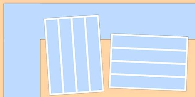 Neutral Pastel Blue Display Border - Neutral display