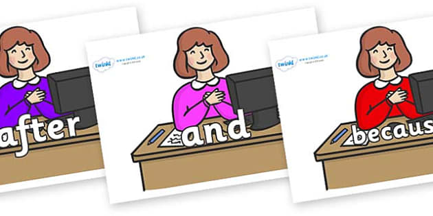 Connectives on Receptionist - Connectives, VCOP, connective resources, connectives display words, connective displays