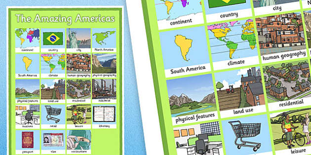 The Amazing Americas Word Grid - amazing americas, word grid, word, grid, americas