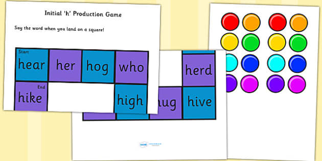 Initial 'h' Production Game