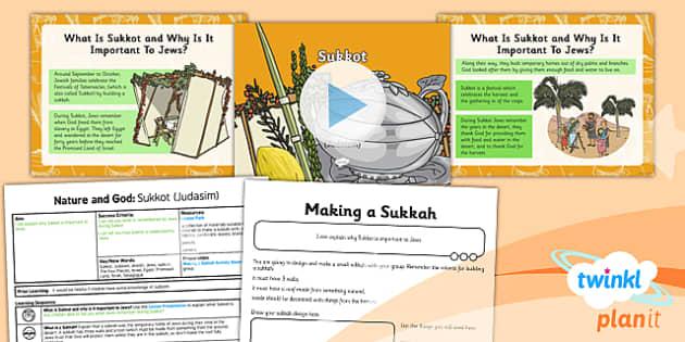 PlanIt - RE Year 2 - Nature and God Lesson 4: Sukkot (Judaism) Lesson Pack - Sukkot, Judaism
