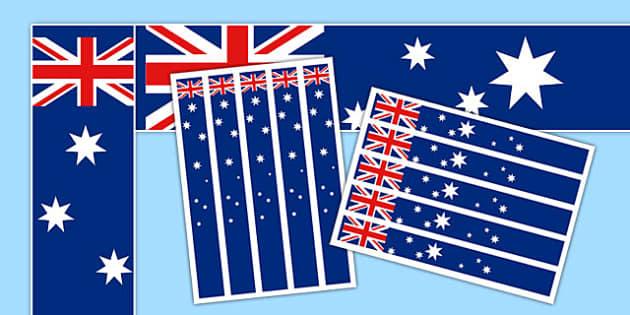 Australia Flag Display Borders - display, dispaly border, border, australia flag, australia display flag, australia borders, australian flag display borders, classroom display border, border for a display, edging, display edging