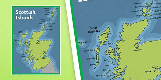 Scottish Islands A4 Display Poster-Scottish