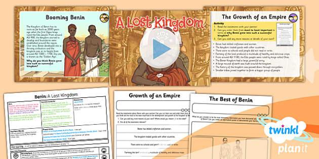 PlanIt - History UKS2 - Benin Lesson 6: A Lost Kingdom Lesson Pack