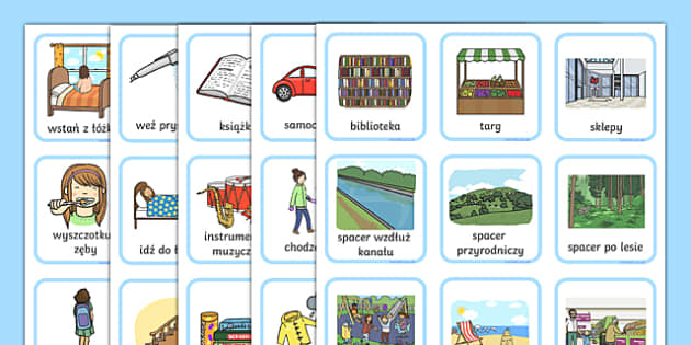 Daily Routine Visual Timetable for Girls Polish - daily routine, visual timetable, girls, routine