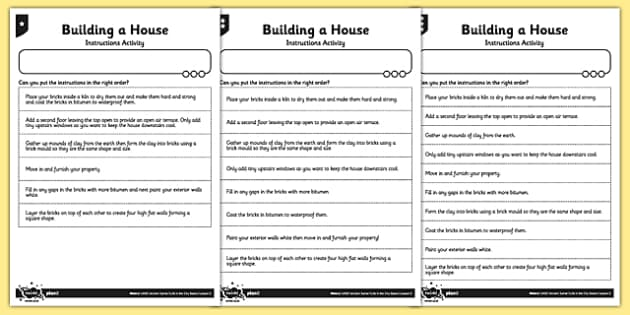 Ancient Sumer Building a House Instructions Activity 3 levels - ancient sumer, building a house, instructions, activity
