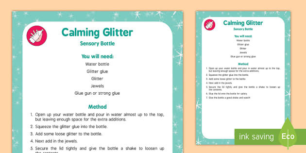 Calming Glitter Sensory Bottle - calming, glitter, sensory bottle, eyfs, early years