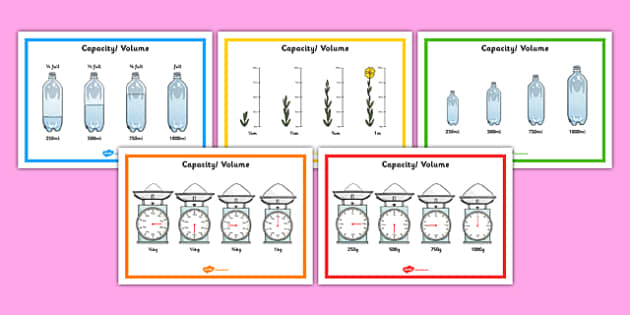 Fraction Measure Posters - fraction, measure, posters, display, numeracy