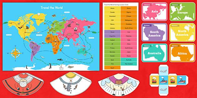 Christmas Around the World Board Game - christmas, game