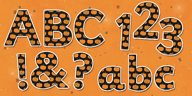 Funky Halloween Pumpkin Display Lettering Pack - halloween, octobe, festival, celebration