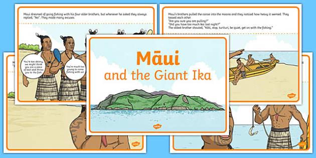 Māui and the Giant Ika Story