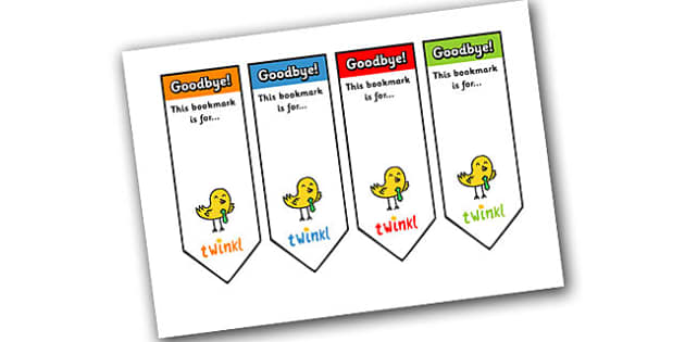 Editable Goodbye Bookmarks - Bookmark, bookmark template,  gift,  present, book, reward, achievement
