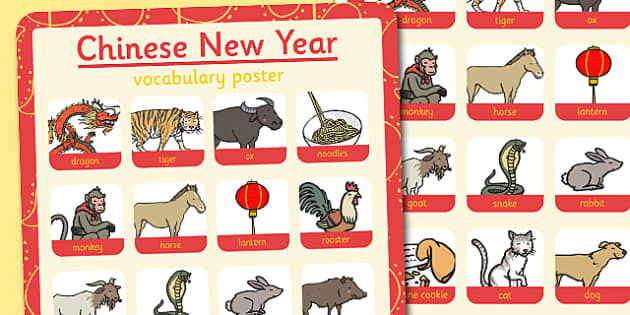 Chinese New Year Themed Vocabulary Poster - chinese new year