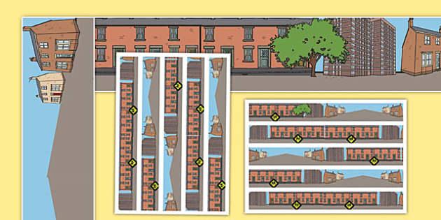Houses and Homes Display Borders - house, home, borders, display