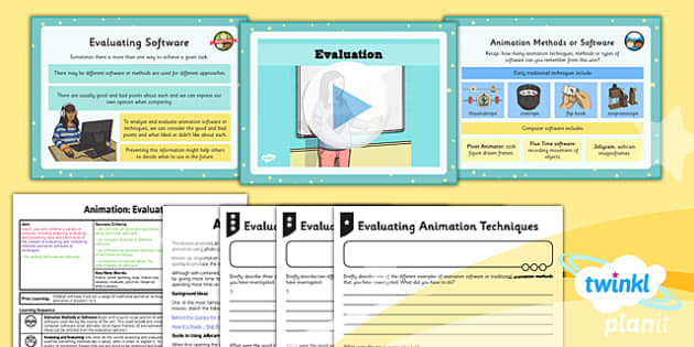 PlanIt - Computing Year 4 - Animation Lesson 6: Evaluation Lesson Pack - planit, computing, unit