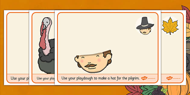 Thanksgiving Playdough mats - activity, activities, mat, visual