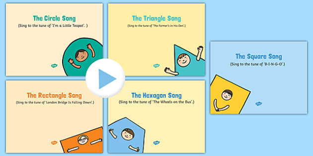 2D Shapes Songs and Rhymes PowerPoints Pack