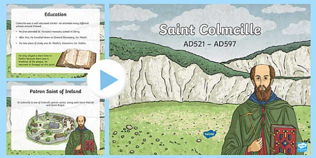 Saint Colmcille PowerPoint-Irish