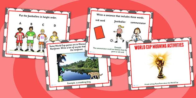 World Cup Morning Activities PowerPoint KS1 - football, sport
