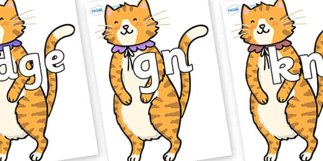 Silent Letters on Pussycat - Silent Letters, silent letter, letter blend, consonant, consonants, digraph, trigraph, A-Z letters, literacy, alphabet, letters, alternative sounds