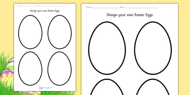 Design Your Own Easter Eggs Worksheet - design, creative, craft, worksheet, design an egg, easter design, easter, easter activity, easter fun, easter egg design, design sheets,