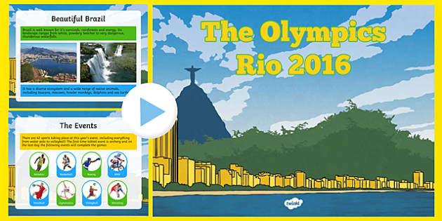 KS2 Olympic Games Rio 2016 PowerPoint