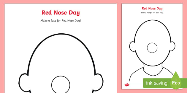 Red Nose Day Blank Faces Activity Sheets