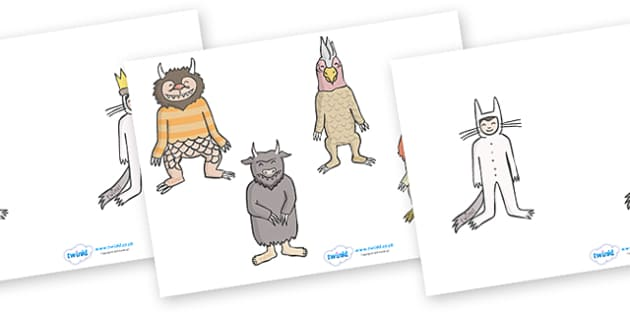 Stick Puppets to Support Teaching on Where the Wild Things Are - Where the Wild Things Are, Maurice Sendak, Wild Things, resources, Max, wild rumpus, boat, wolf suit, dream, fantasy, story, story book, story book resources, story sequencing, story re