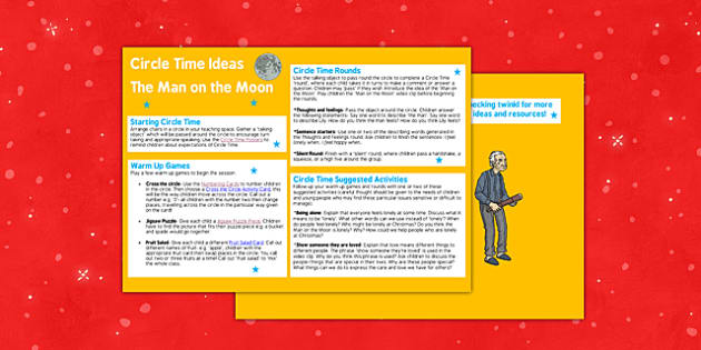 Man on the Moon Circle Time Activities - man on the moon, circle time, activities