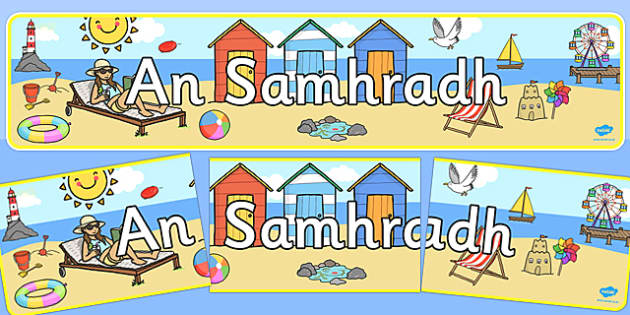 Summer Display Banner Irish - summer display, seasons, banner, Gaeilge