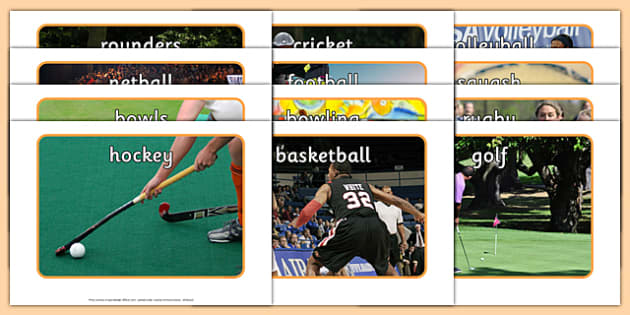 Ball Games Display Photos - PE, EYFS, physical development, gross motor skills, PD, early years, movement, games, ball, hockey, volleyball, sports