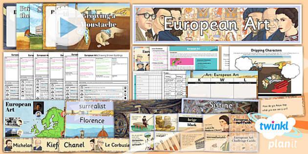 PlanIt - Art LKS2 - European Art Unit Pack - planit, art, pack, unit