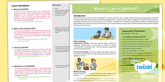 PlanIt - Geography Year 4 - What's It Like in Sheffield? Unit Planning Overview - planit, geography, year 4, what's it like in sheffield?, planning overview