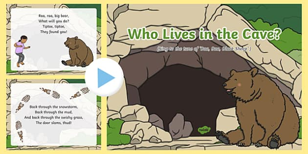 Who Lives in the Cave? Song PowerPoint