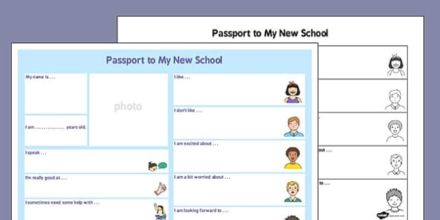 make your own passport template - passport to a new school passport new school new school